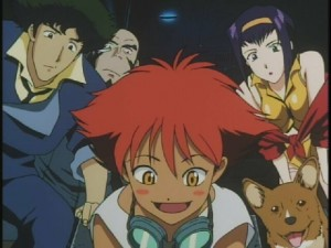 From left to right: Spike, Jet, Ed, Faye, Ein.